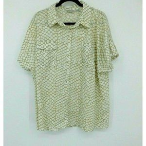 Kathy Che Women's Button Up Blouse Top sz 18 / 20W